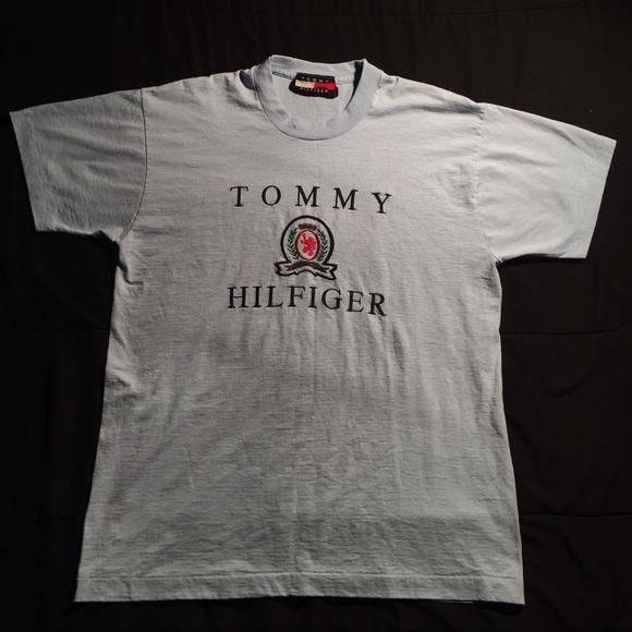 14f329bb Tommy Hilfiger Tops | Vintage Embroidered Crest Tshirt | Poshmark